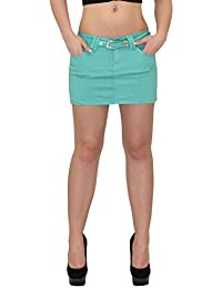 new style b1392 087d0 Suchergebnis auf Amazon.de für: Jeansrock - Grün: Bekleidung