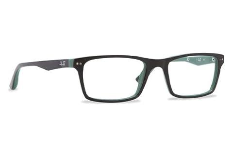 Ray Ban Optical Men's Rx5288 Top Black On Green Frame Plastic Eyeglasses, 50mm