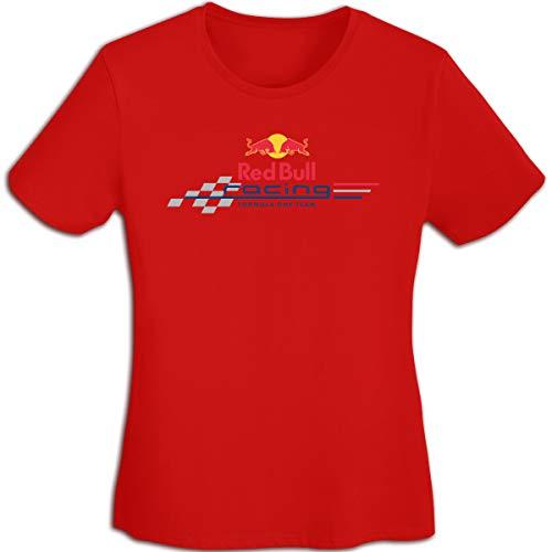 Star Trek-jugend-t-shirt (Frauen Sommer T-Shirt Red Bull F1 Racing T-Shirt T Shirt für Frauen Jugend Mädchen T-Shirt Kurzarm Rundhals Rot XL)
