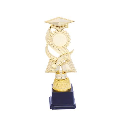 NUOBESTY 26cm trofei d'oro Premio Cappello di Laurea Trofeo per concorsi premi bomboniere premi di Laurea Regalo Scuola Oro