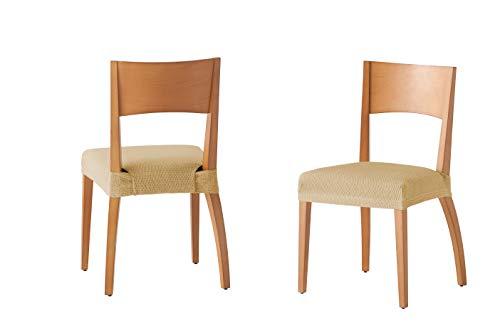 Pack de 2 Fundas de Asiento para Silla Modelo Tunez, Color Beige, Medida 40-50cm