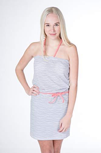 alife and Kickin Kim Dress Damen Sommerkleid, Jerseykleid, Strandkleid, Kleid, Cloudy Stripes, M -