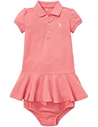 bb68d8572832 Ralph Lauren Genuine Classic Baby Girls Polo Dress Bloomer Set 6 mths Pink