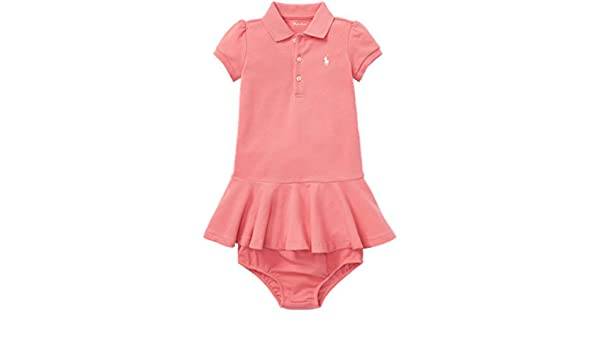 1747b141c Ralph Lauren Genuine Classic Baby Girls Polo Dress Bloomer Set 6 mths Pink:  Amazon.co.uk: Clothing