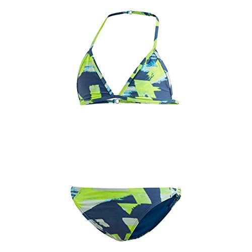 adidas Mädchen Allover Print Bikini, Legend Marine/Shock Cyan, 152