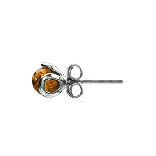 Bernstein Sterling Silber Art Deco Einzel Stecker Ohrringe