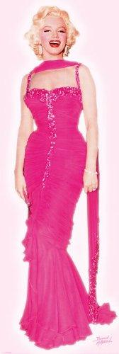 MARILYN MONROE–Pink Dress–53x 158cm (Pink Marilyn Dress Monroe)