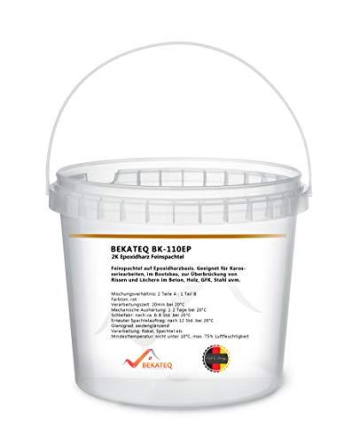 BEKATEQ BK-110EP Feinspachtel Epoxidharz 6kg, 2K Spachtel für Holz, Metall und Kunststoffe und Beton