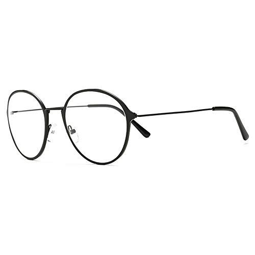 AdorabFrames Moderner Metallrahmen Damenbrillengestell rundes Gesicht flacher Rahmen runder...