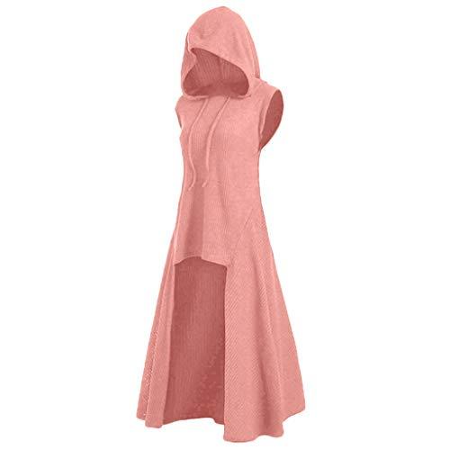 Kostüm Rosa Elefant Kleinkind - LOPILY Umhang Kleid mit Kapuze Vokuhila Cape Vampir Kostüm Halloween Erwachsener Damen Cosplay Umhang Prop für Halloween Masquerade Mittelalter Kleidung Karneval Kostüme (Rosa, 38)