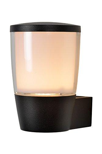 Lucide 14892/01/30 Applique, Aluminium, GU10, 5 W, Noir, 14 x 10,5 x 16 cm