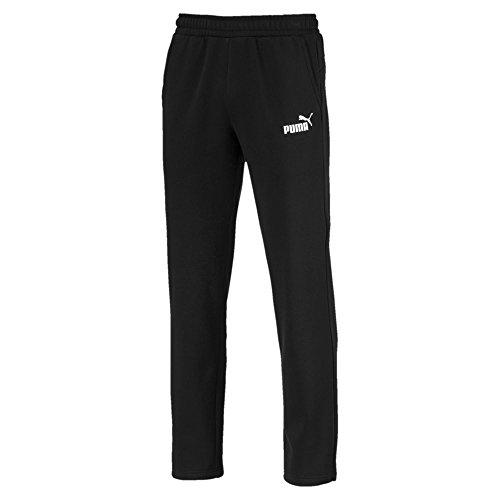 Puma ESS Logo FL OP Pantalon de Sport Pants Homme, Black, FR : 2XL (Taille Fabricant : XXL)