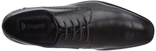 Bugatti R02081 Herren Derby Schnürhalbschuhe Schwarz (schwarz 100)