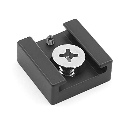 Aluminum Alloy Hot Shoe Mount Adapter with 1/4 Screw for Umbrella Holder Flash Bracket Wireless Trigger Cold Shoe Wireless Hot Shoe
