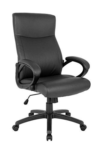 SixBros. Bürostuhl Chefsessel Drehstuhl Schreibtischstuhl Schwarz - HLC-0311-1/1982 -