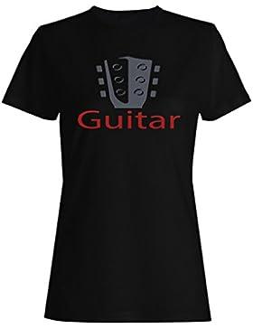Nuevos Logos De Guitarra Con Siluetas camiseta de las mujeres h667f