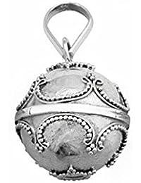 Llamador plata ley 925m ángeles cerrado. diametro 16mm [AA0922]