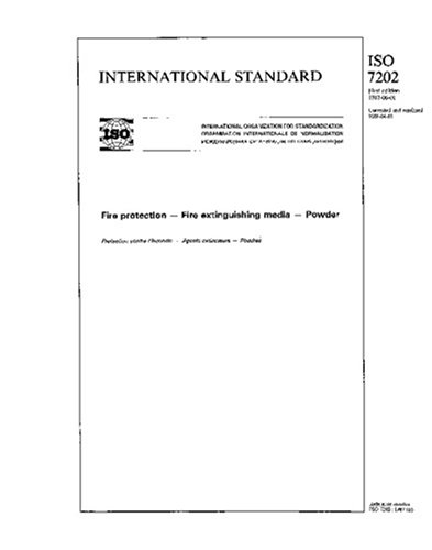 ISO 7202:1987, Fire protection - Fire extinguishing media - Powder