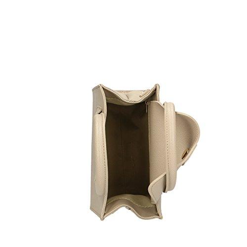 Chicca Borse Borsa a mano in pelle 20x19x10 100% Genuine Leather Fango