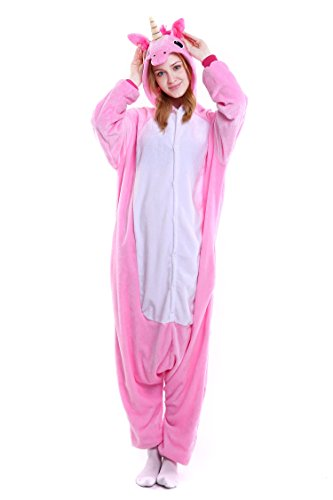 Unicornio Pijamas Unisex Adulto Cosplay Disfraz de Halloween Animal Pi