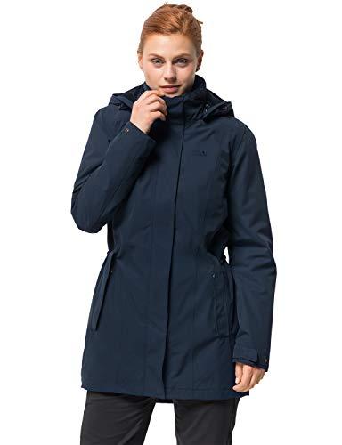 Jack Wolfskin Damen Madison Avenue Coat Mantel, Blau (midnight blue), M