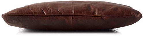 Spikes & Sparrow Damen Shopper Bag Henkeltasche, 3x40x35 cm Braun (Dark Brown)