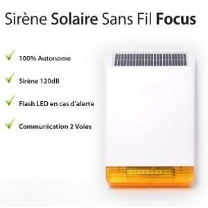 Focus - Sirène sans-fil extérieure Solaire FOCUS Flash 120dB