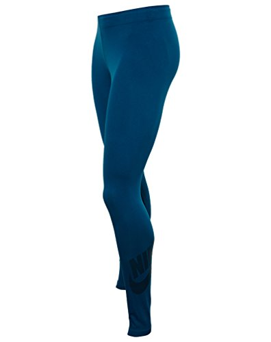 Nike W NSW Leg aux SEEE Lggng Logo Collant pour femme Verde (Green Abyss / Midnight Turq)