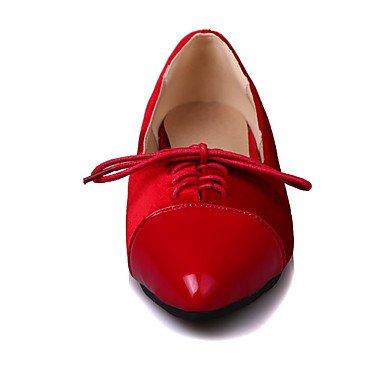 Confortevole ed elegante piatto scarpe donna Appartamenti Primavera Estate Autunno Inverno Comfort vello Cuoi Office & Carriera Party & abito da sera tacco piatto rivetto Lace-up Red