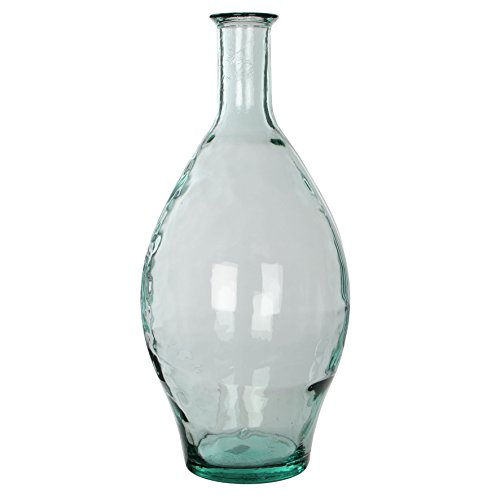 MICA Decorations Kyara Glasflasche/Vase, Glas, transparent, H. 60 cm D. 28 cm