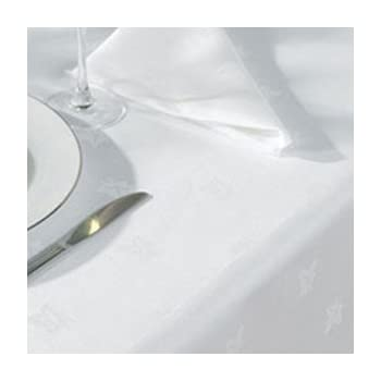 """Large White Egyptian Cotton Tablecloth 54"""" X 108""""(137cms x 275cms)"""