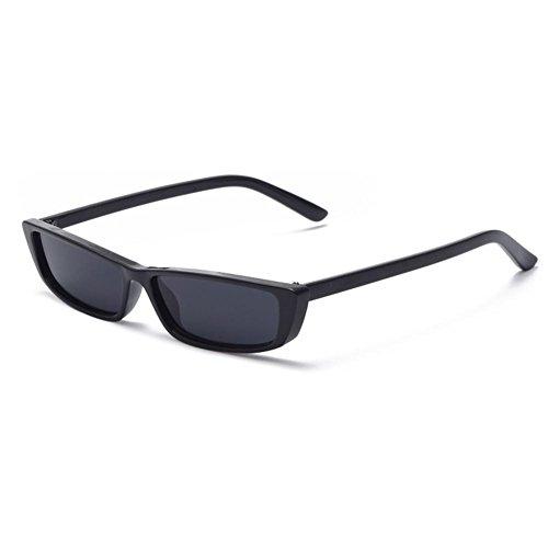 Trendy Small Square Cat Eye Brille Vintage rechteckige Retro schwarz schmale Schattierungen, Sonnenbrillen für Frauen, Männer