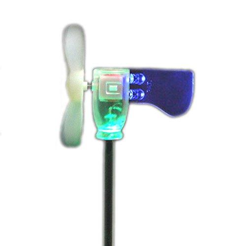 Soffiare LED mini turbina Piccolo Mulino a vento Luce giardino