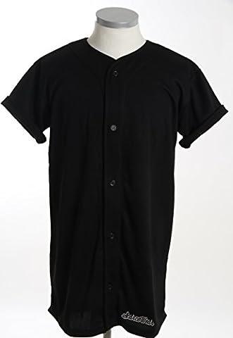 Scarcewear unisex long plain black baseball jersey shirt size