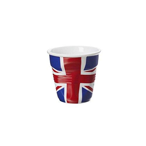 6 Grands gobelets froissés Cappuccino Drapeau britanique 18 cl Revol