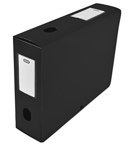 ELBA 400094580Heftbox zu montieren Rücken 80mm Polypropylen blickdicht 24x 32cm schwarz