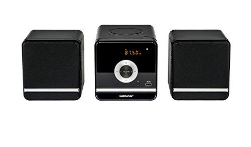 MEDION P64102 Kompaktanlage ( 2 x 5 Watt RM, CD, MP3, USB, FM UKW, 30 Senderspeicher) schwarz
