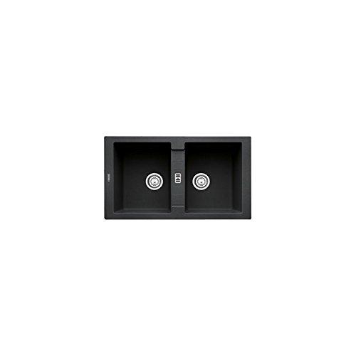 Franke Maris MRG 620 ONYX - Fregadero (Negro, 2 senos, 335 x...