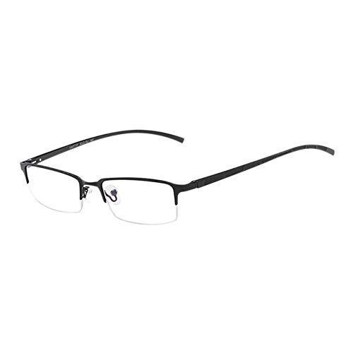 Preisvergleich Produktbild Haodasi Männer Business Gläser - Blue Light Blocking Anti Licht Fatigue Glasses Game Phones Goggle Metall Hälfte Rahmen Retro Brille