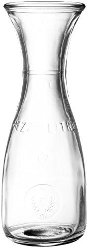 Bormioli Rocco Misura Weinkaraffe, mit Füllstrich bei 250ml, Pressring, 1 Stück