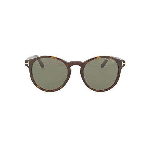 Tom Ford Unisex-Erwachsene FT0591 52N 51 Sonnenbrille, Braun (Avana Scura/Verde),