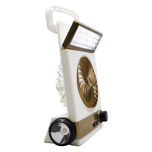 WJGJ Fan Solar 3 en 1 Linterna llevada portátil Multifuncional de la lámpara de Mesa for la Fan Solar Que acampa casera for al Aire Libre