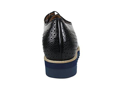 Zerimar Chaussures avec Augmente Intérieur DE 8 CM Cuir Couleur Noir Noir