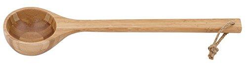 Preisvergleich Produktbild Well Solutions® Design Sauna Schöpfkelle / Bambus Saunalöffel designet by Rento / Ökologischer Bambus wärmebehandelt 43 cm - das Original