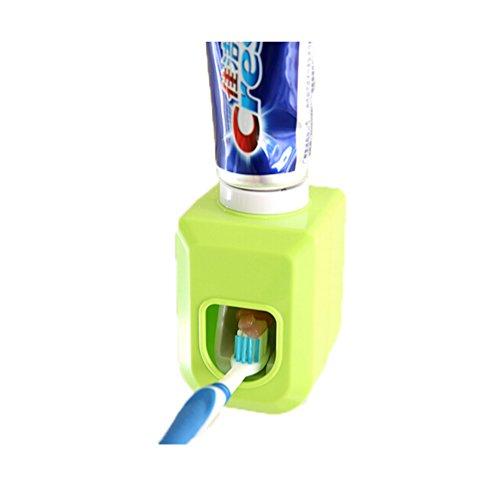Albeey Zahnpastaspender Automatische Zahnpasta Presse (Grün)
