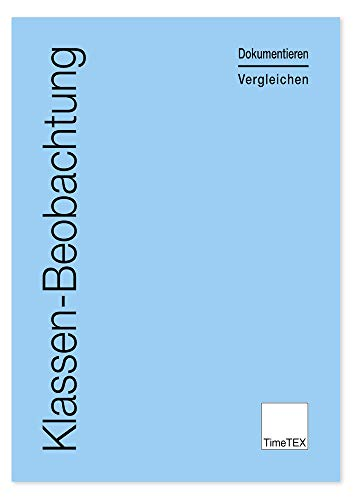 TimeTEX Klassen-Beobachtung - Dokumentieren - Vergleichen - Hellblau - A4 - Heft - 10850 - Schülerbeobachtung