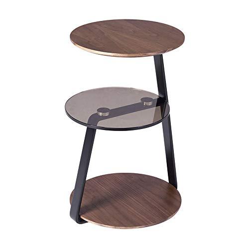 FEI - Computer-Schreibtisch Massivholz 3. Stock - Nesting Tables Couchtisch-Set Beistelltische aus Holz mit Metallbeinen, Dunkelbraun für alle Workstations (Holz Nesting Tables)