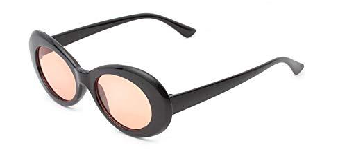 Daesar Sonnenbrille UV 400 Schwarz Orange mit Harz Linse Unisex Motorrad Sonnenbrille