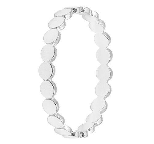 Pernille Corydon Damen Ring Eon kleine runde Plättchen hochglänzend Bandring Verschiedene Größen - PCO-R215s-P (57 (18.1))