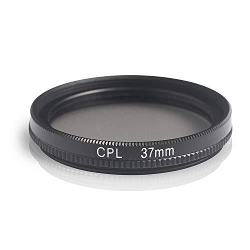 Ares Foto® CPL Zirkular-Polfilter Polarisationsfilter, optisches Glas & Aluminium. Für Canon Sony Nikon Fujifilm Pentax Tamron Sigma Leica Olympus Panasonic (37mm)